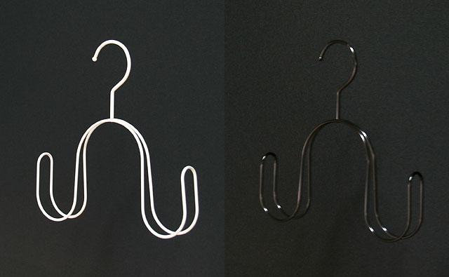 スカーフ/白塗装・黒電着