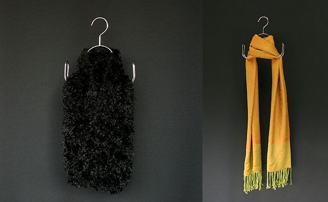 スカーフ展示イメージ画像 マフラーやストールの展示に最適