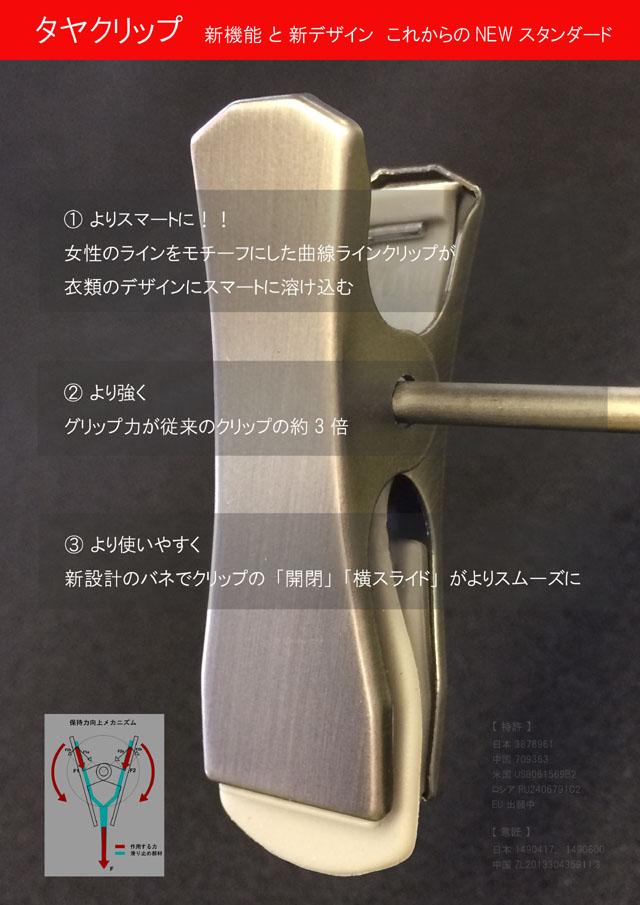 国内外特許 意匠取得商品 タヤクリップ