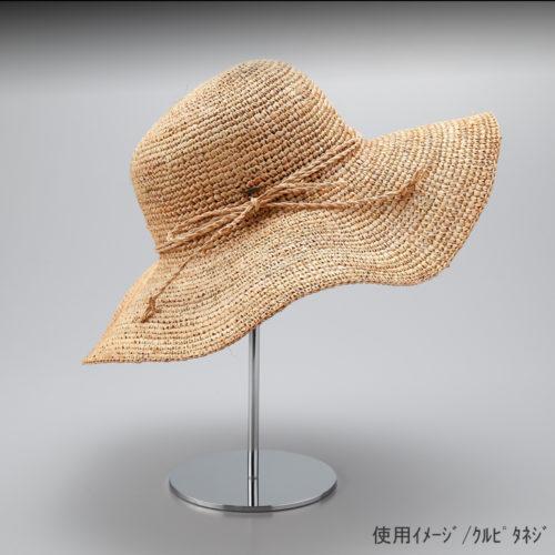●使用イメージ画像 ●帽子スタンド 半球型 くるぴたネジ仕様 ●画像は帽子をディスプレイしたイメージ画像です。(画像の帽子は商品に含まれません) ●帽子スタンド 半球型 くるぴたネジ仕様