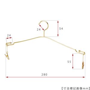 ●寸法標記画像 ●ワイド寸法:280mm ●線径:2.5φ ●型番:IN-510F-28-MC