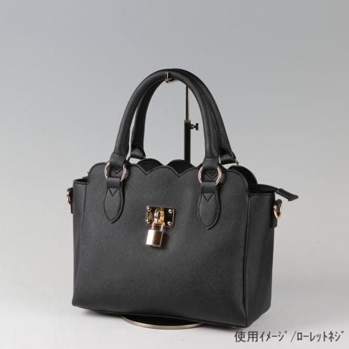 ●卓上バッグ掛けスタンド使用イメージ画像 ●バッグスタンドA-M ローレットネジ仕様 ●画像はバッグをディスプレイしたイメージ画像です。(画像のバッグは商品に含まれません)