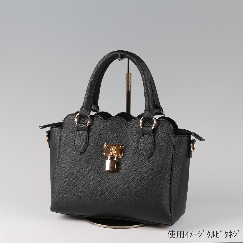●卓上バッグ掛けスタンド使用イメージ画像 ●バッグスタンドA-M くるぴたネジ仕様 ●画像はバッグをディスプレイしたイメージ画像です。(画像のバッグは商品に含まれません)