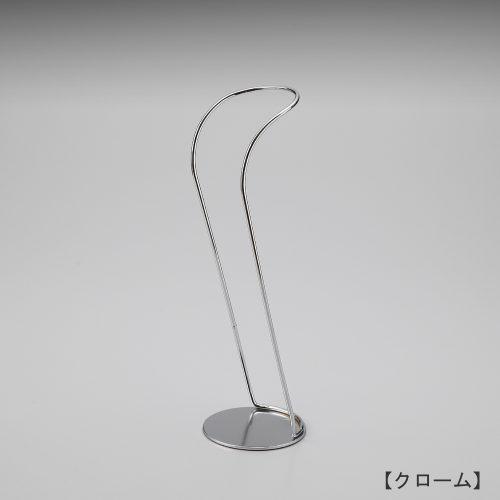 ブーツスタンド片足用/表面処理:クロームメッキ(Cr)仕上/材質:スチール ●デザイン:スタンドが目立たないよう、緩やかな曲線で仕上げました。/日本製