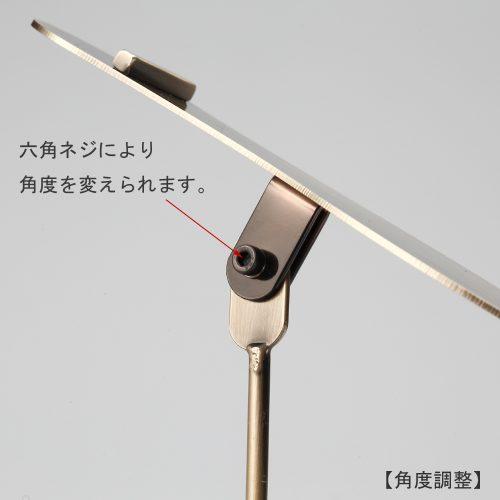 シューズスタンド(片足用)/ディスプレイ:ヘッド部の角度調整が可能。ディスプレイの目的に合った傾斜をつけ、躍動感ある展示をお試しください。/角度調整:六角ねじ仕様/日本製