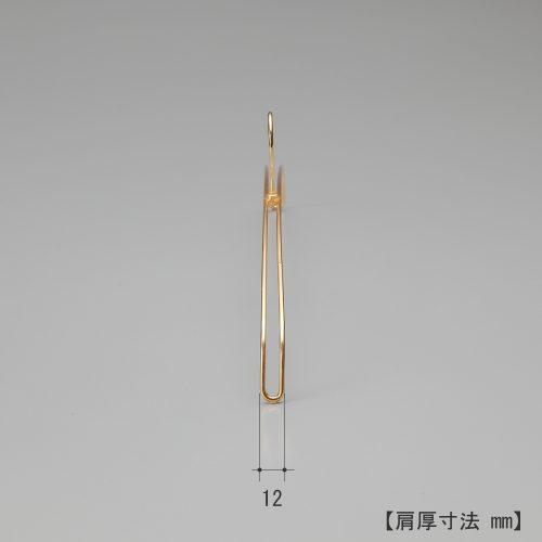 ハンガーを横から見た画像/肩先の厚み12mm/型番:IN-516