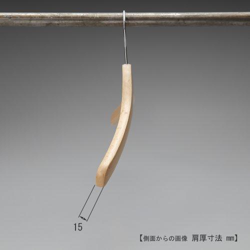 ハンガーを横から見た画像/肩先の厚み:15mm/型番:TY-04