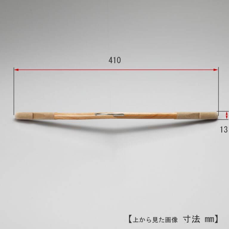 レンタルハンガー レディス Tシャツ用 木製 滑止植毛付 W410mm RWL-54 10本