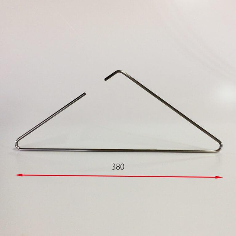 セール#920 トライアングル型ハンガー ピューターメッキ W380 5φ 【10本セット】