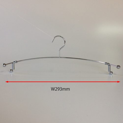 寸法ワイド293mm 線径φ3mm。色:クロームメッキ