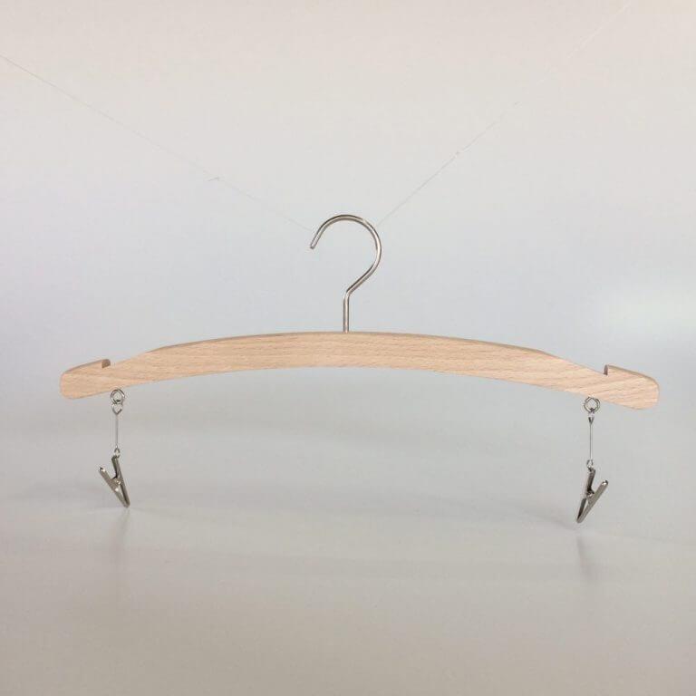 アウトレットハンガー #934 (在庫限り品) 木製ランジェリー用ハンガー 無塗装 横幅280mm/板厚10mm【18本セット】