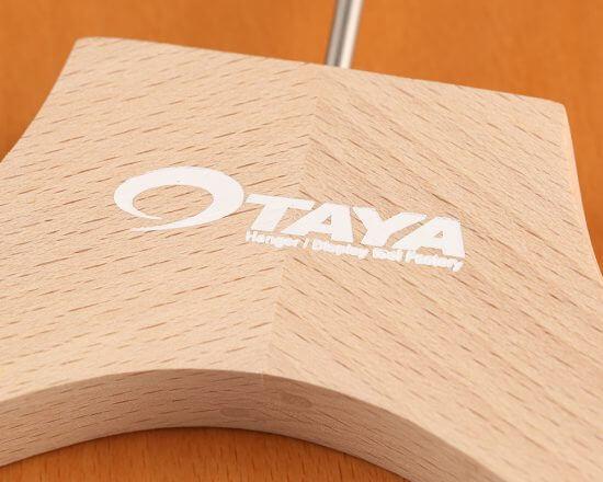 箔押し|木製ハンガー