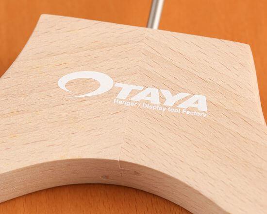 木製ハンガー シルク印刷