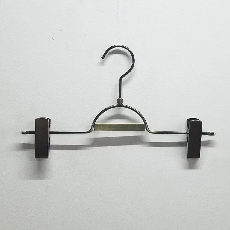 セール#969 パンツハンガー ネームプレート付 アンティークゴールド W300mm 線径φ4mm【10本セット】