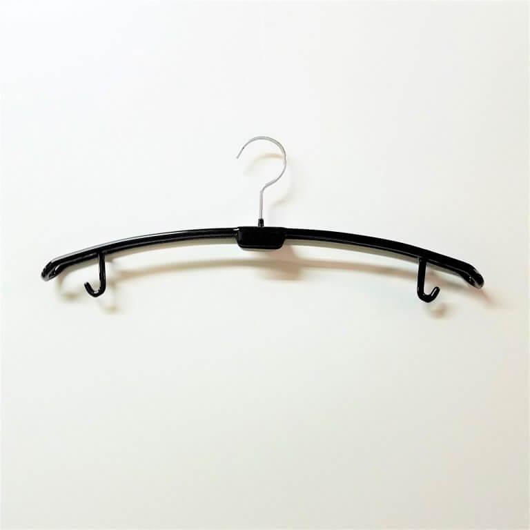 セール#983 肩厚35mm ウエディングハンガー黒 フック固定  W420【10本セット】