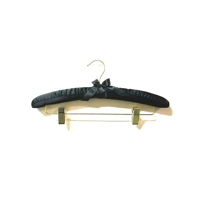 セール#986 ワイド380mm ゴールドフック・サテンハンガー フック回転  線径3φ  肩厚32mm【5本セット】