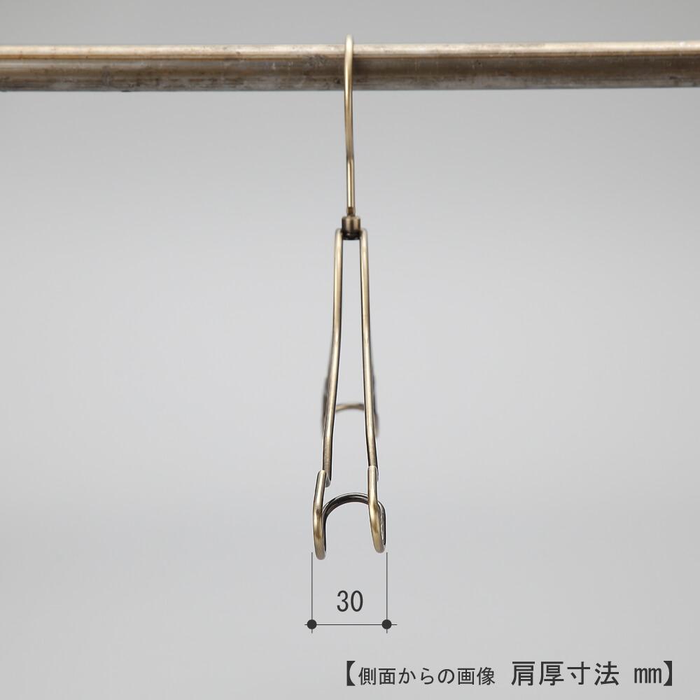 ●ハンガーを真横から見た画像  ●肩先寸法:30mm  ●型番:TSW-2468AR-BT-38 ●生産国:日本(タヤ自社工場)