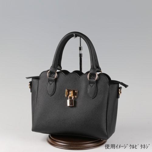 ●卓上バッグ掛けスタンド使用イメージ画像 ●バッグスタンドA-M くるぴたネジ 木製ベース仕様 ●画像はバッグをディスプレイしたイメージ画像です。(画像のバッグは商品に含まれません)
