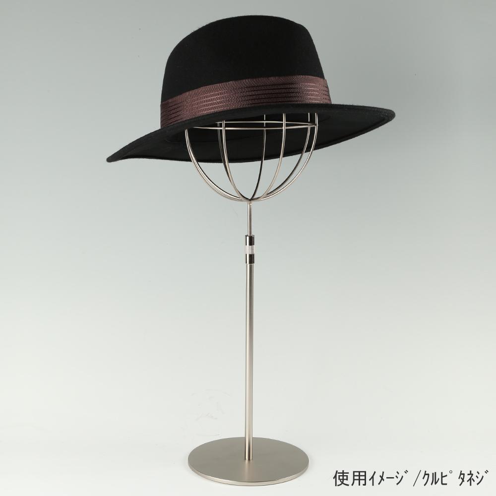 ●帽子スタンド 球体型 Mサイズ クロームメッキ使用イメージ画像 ●帽子スタンド 球体型 Mサイズ くるぴたタイプ ●画像は帽子を設置した際のイメージ画像です。(画像の帽子は商品に含まれません)