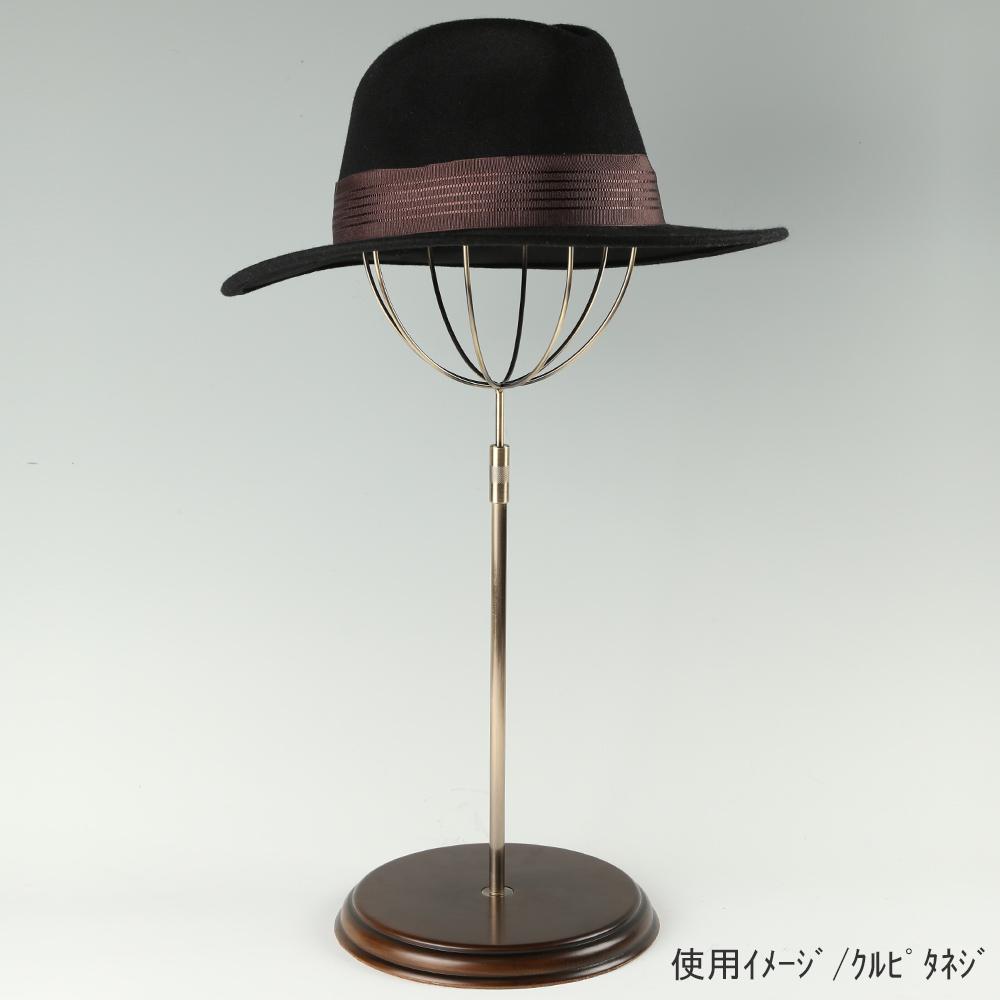 ●使用イメージ画像 ●帽子スタンド 球体型-M くるぴたネジ・木製ベース仕様 ●画像は帽子を設置した際のイメージ画像です。(画像の帽子は商品に含まれません