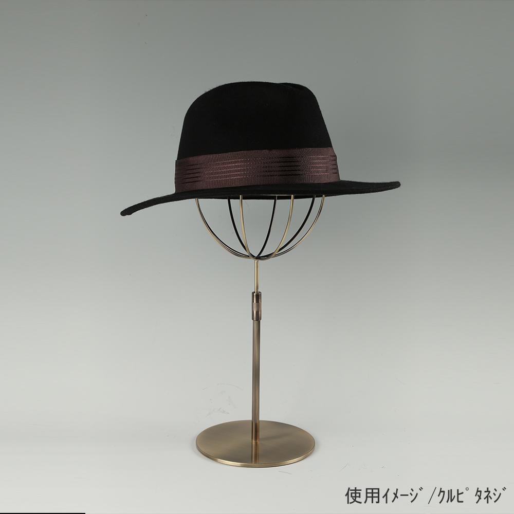 ●使用イメージ画像 ●帽子スタンド 球体型-S くるぴたネジ仕様 ●画像は帽子を設置した際のイメージ画像です。(画像の帽子は商品に含まれません)