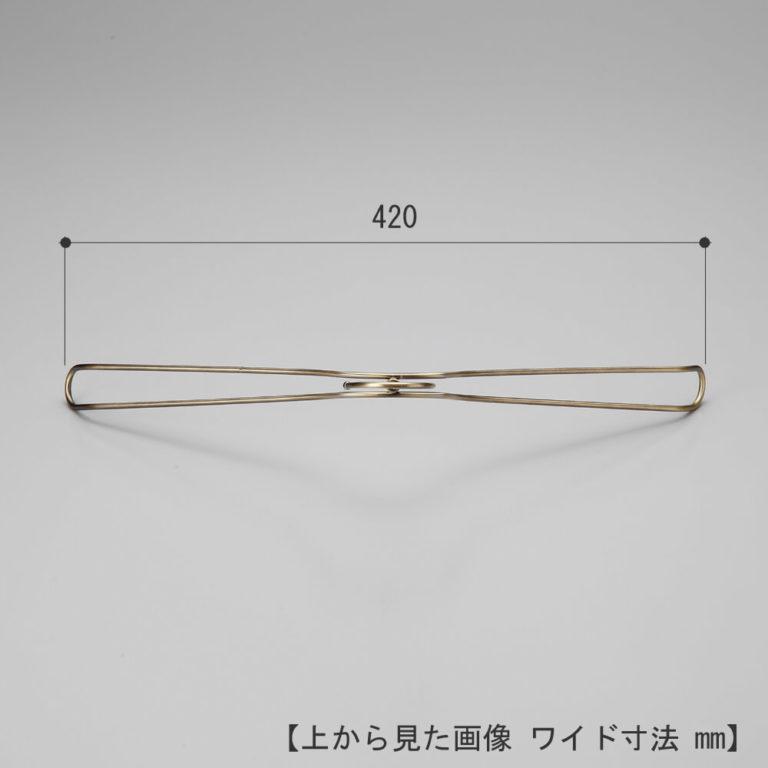 レンタルハンガー メンズ ダブルラインシャツハンガー RSM-12(TSW-2468B 凹無) 10本 クロームメッキ