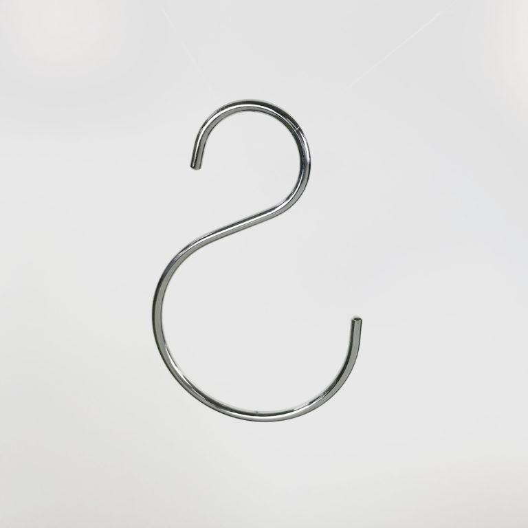 アウトレット品 #1016 (在庫限り品) S字フック上下異形型  クロームメッキ【14本セット】