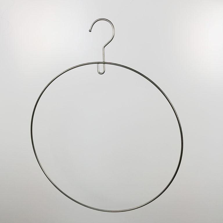 アウトレットハンガー #1032 (在庫限り品) 水着用 横幅360mm ホワイトニッケルメッキ【5本セット】