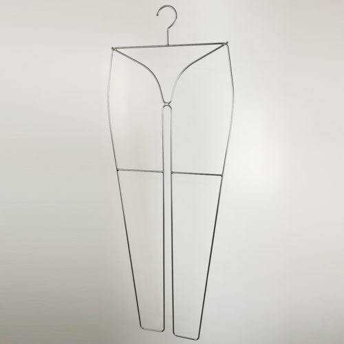 【レディススパッツ用ハンガー】 ●寸法 横幅:355mm  ●表面処理 クローム+ツヤ消クリア塗装