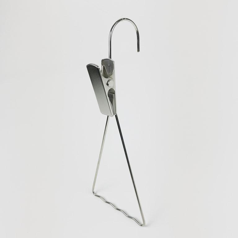 アウトレットハンガー #1136 (在庫限り品) クリップフック W100mm スチール製 ニッケルメッキ【22本セット】