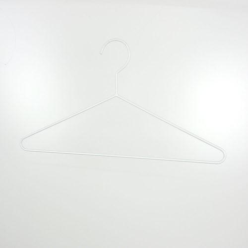 ハンガーセール品#1092 ●材質:スチール製  ●色:白電着 ●サイズ W380mm ●線径 φ4mm ※多少汚れあり