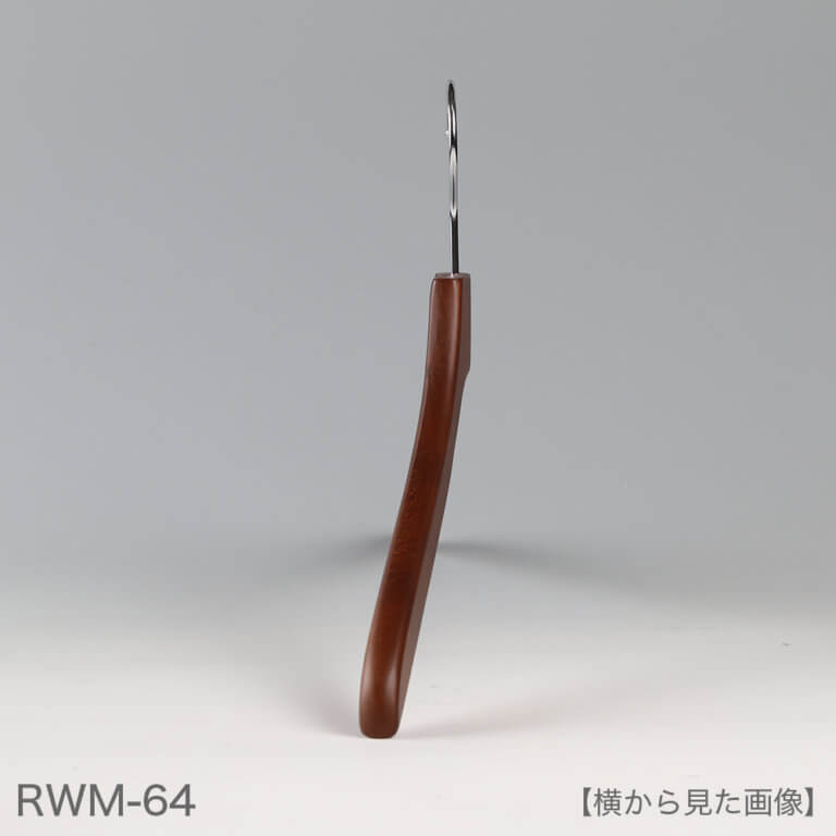 レンタルハンガー メンズシャツ用 木製茶染 クローム W420mm RWM-64 10本