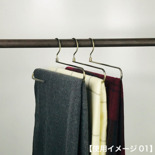 ●ストールがしわになりにくいため、柄、色も製品本来の魅力を保ちながらディスプレイができます。