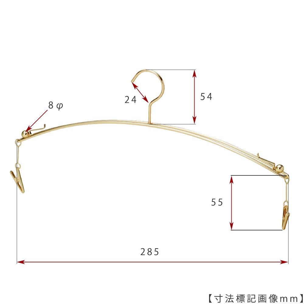 ●寸法標記画像 ●ワイド寸法:285mm ●線径:2.5φ ●型番:IN-502F-28-IBMC-GO