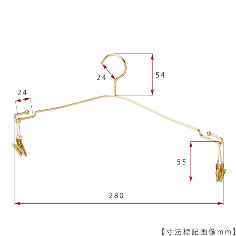 ●寸法標記画像 ●型番:IN-510F-28-4MC-GO